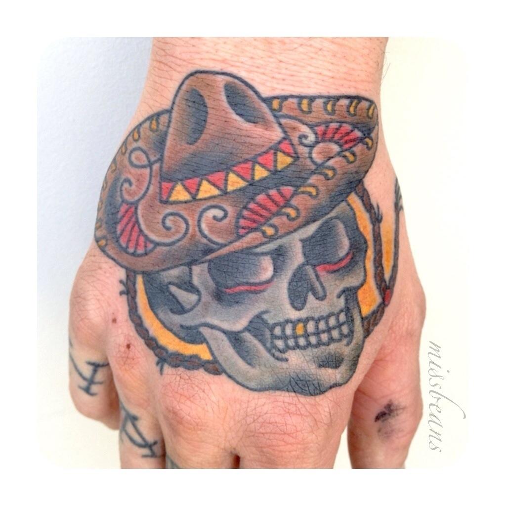 Sugar Skull Sombrero Tattoo Joy Studio Design Gallery
